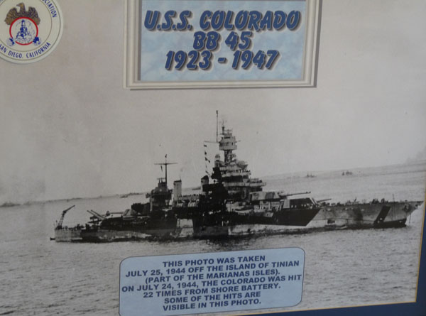 USS Colorado received 7 battles stars for service during WWII