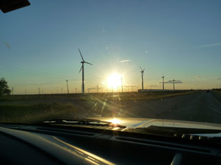 Windmills around Sweetwater, Texas