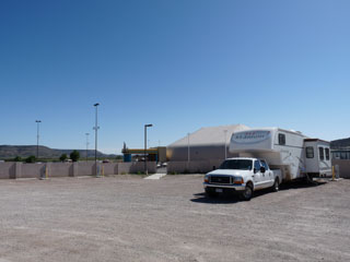 View of our RV site at Dancing Eagle Casino