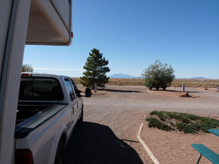 Our site at Meteor Crater RV Park