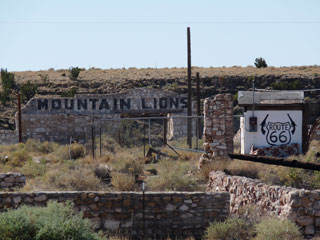 Mountain Lions! Ruins of Two Guns along Route 66