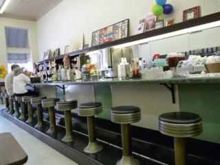 Highland Park Pharmacy soda fountain in Dallas