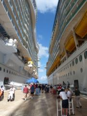 Royal Carribean ships docked at Honduras