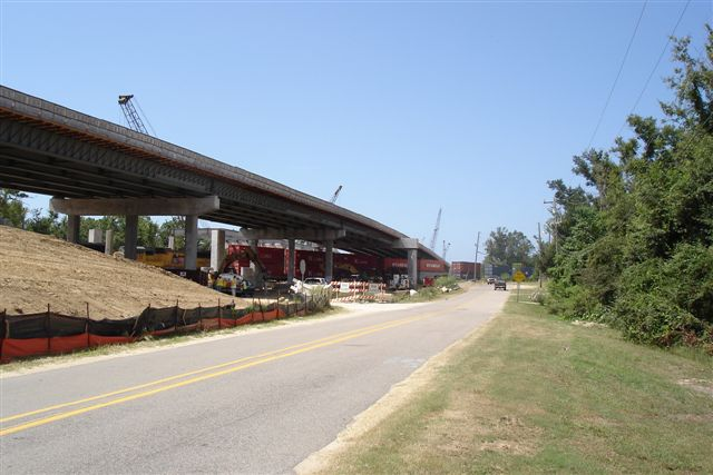 US90 construction at Ocean Springs