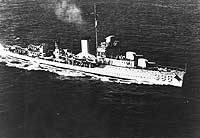 USS Bagley, the first ship to return enemy fire at Pearl Harbor