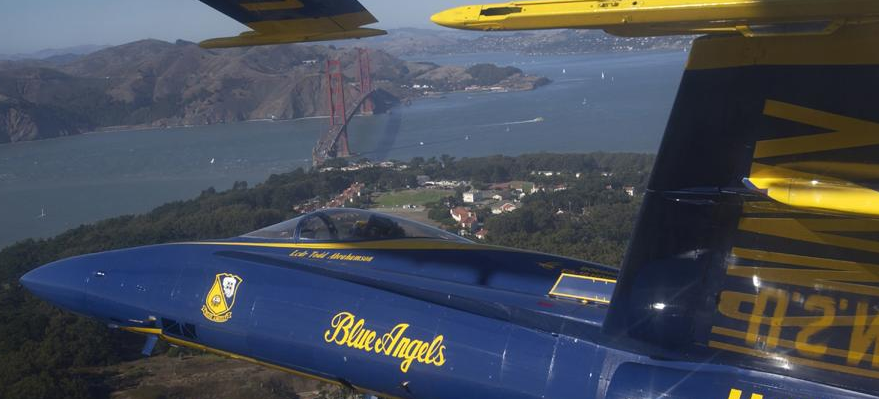 Blue Angels near San Francisco Bay