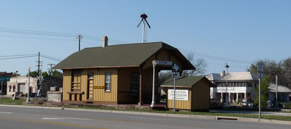Train depot in Bertram, Texas
