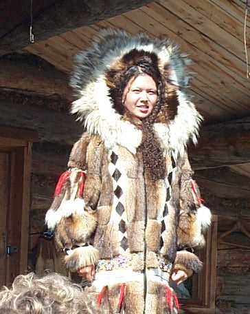 Custom made fur coat made by Athabascan Indians