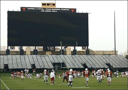 University of Texas - home of the largest HD video display in the world