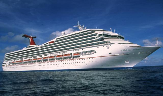 Carnival Triumph at sea