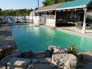 Unique Swimming Pool Area Built By The Owner Himself Sea Breeze RV Park
