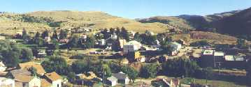 Virginia City looking from Boot Hill