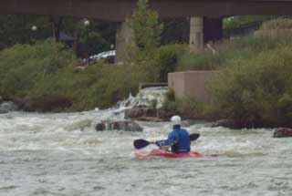 Kayaking near downtown Denver