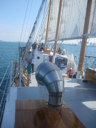 Aboard the Tall Ship Windy
