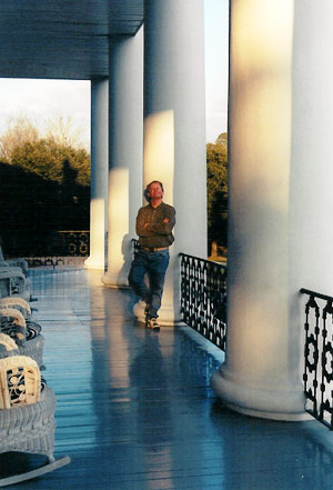 Tommy Ford, pictured among the columns of Dunleith for a recent feature on Natchez.