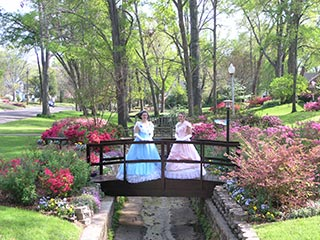 Tyler, Texas women in period dress for teh Azalea Trail